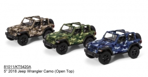 KINSMART Jeep Wrangler Camo Open Top, (12шт) №KT5420DA